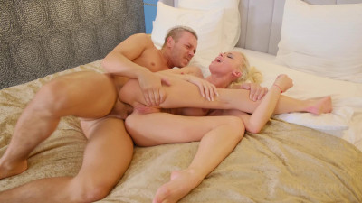 Slim blond Lara Frost assfucked by a stranger from the street