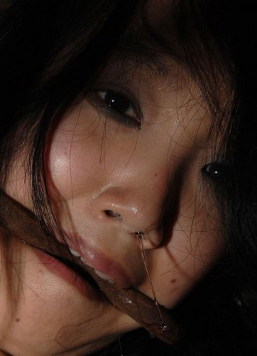 Korean beauty in hard BDSM