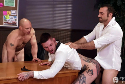 Hot 3some Jaxton Wheeler, John Magnum & Teddy (1080p)
