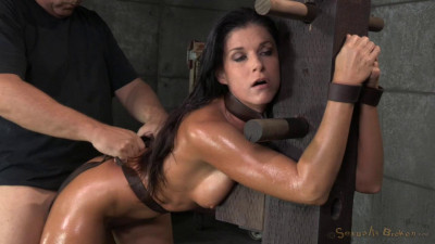 Stunning MILF India Summer Belted Down To A Post And Bred, 10 Inch BBC And Creampies