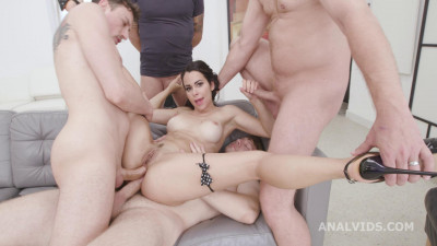 Dirty Slut Jessy Jey Gets 4on1 Anal Orgy With DAP & Creampies