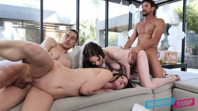 Jazmin Luv & Hazel Moore – An Orgy Before The Wedding
