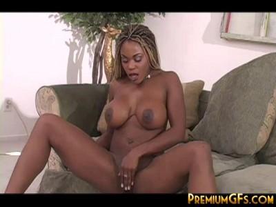 Description big breast ebony slut having fun with his friend