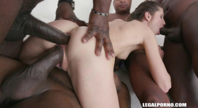 Gina Gerson gangbanged by huge black dicks