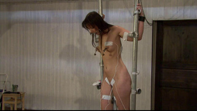 Tens Torture in the Metal Frame - Scene 2 - HD 720p