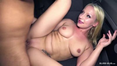 Busty German blondie gets cum covered in steamy hardcore van sex