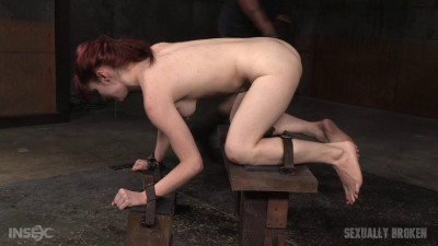 Stunning starlet Violet Monroe restrained doggy style dicked down drooling mess! (2016)