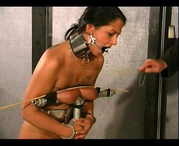 Breast Torture is showing ways to put suspension and bondage