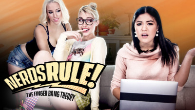 Chloe Cherry, Kendra Spade, Aspen Romanoff - Nerds Rule The Finger Bang Theory