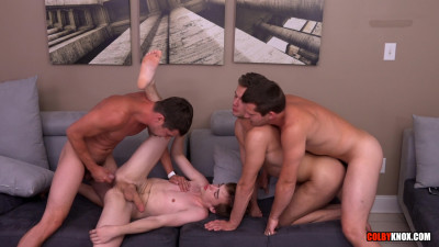 ColbyKnox - Full on Fuckfest with Logan Cross and Tannor Reed(1080p)