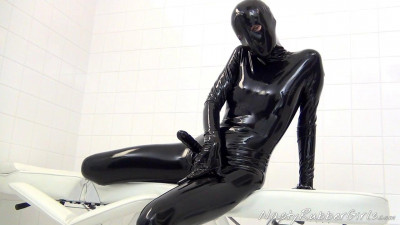 Kinky Rubber Clinic Strap-On, Condom Catsuit Part One
