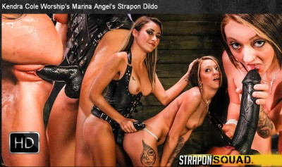 StraponSquad - May 19, 2015 - Kendra Cole Worship's Marina Angel's Strapon Dildo