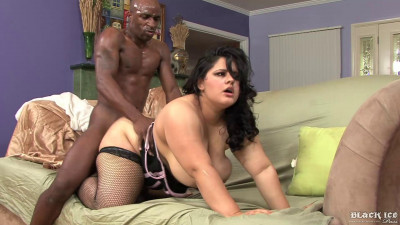 Karla Lane Gets Her Big Fat Pussy Fucked While Wearing Fishnets