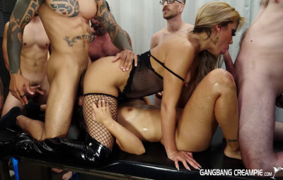 Glorious gangbang with best sperm sluts