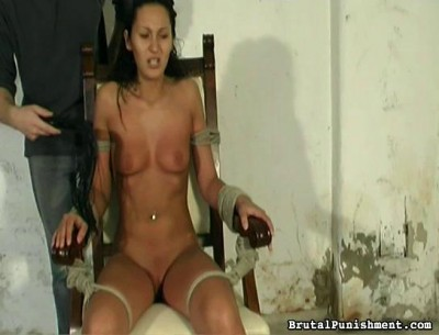 Feels the sting of the whip as her cruel subjects her to extreme discipline