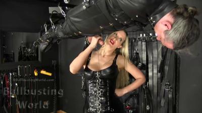 Mistress Nikki Whiplash - Sadistic Suspended Ballbusting
