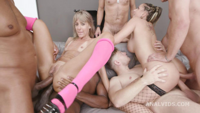 Description 6on2 Gape Orgy With DAP & Swallows - Vicky Sol & Jolee Love
