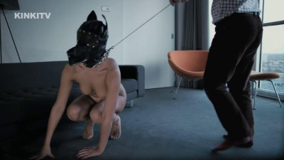 Super bondage, domination and spanking for horny sexy brunette HD 1080p