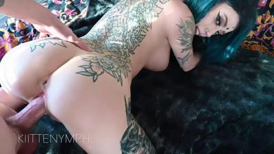 Tattooed Slut Gets Pussy Creampie