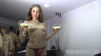 Silvana is shocked when she sees two goblets full of still warm jizz.