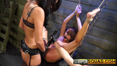 Description Marina Angel Endures Lesbian Domination Threesome with Esmi Lee and Abella Danger