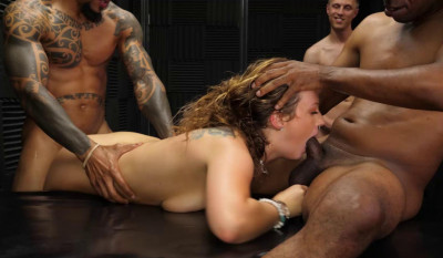 Interracial GangBang With Creampie For Febby Twigs