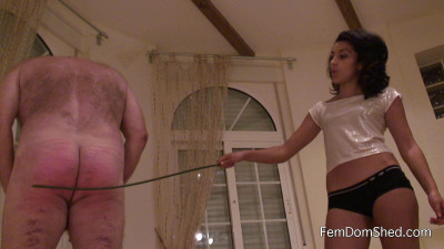 Caning ass for fun