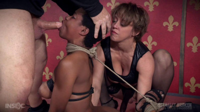 Cutie Kahlista Back For Live Throat Fucking in Intense Rope Bondage