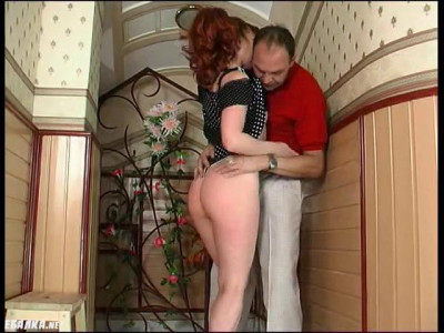 mature sex in a smoking room at work