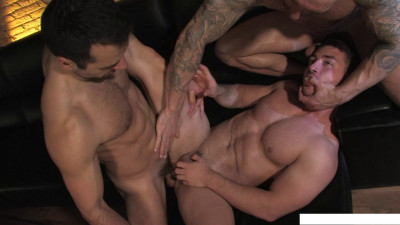 Sexo en Barcelona - Part 1, scene 04: Marc Dylan, Francesco D'Macho, Frederic Duris