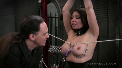Tight bondage, spanking and torture for very hot sexy slavegirl