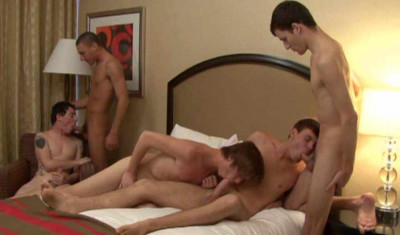 Raw Gangbang With Hot Twinks