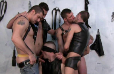 Brutal Fuck With Leather Group Sex