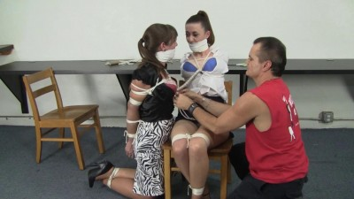 Serene Isley, Elizabeth Andrews, and Dominic Wolfe : Tethered together - download, dom, waiting.