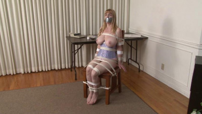 Rope and Tape Chair Bondage for Lorelei - by Jon Woods