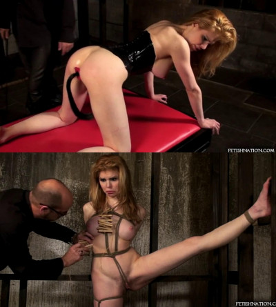Super bondage, torture and spanking for very hot blonde part 2
