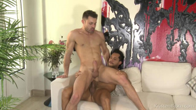 Ansony rewards James' cock sucking skills by flipping