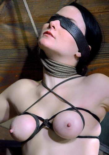 Tight Breast Bondage Keeps Her Perfect Perky Tits Jutting Out