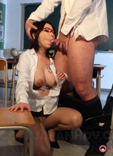 Hot teacher Minami Kitagawa sucks cock like a whore FullHD 1080p