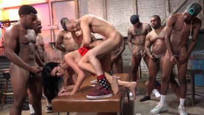 British Busty Jasmine Jae Gangbanged By Many Black Guys