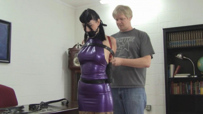 Nyxon Busty Brunette Secretary Trained In Latex And Leather (2015)