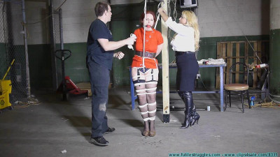 The Security Guards Hogtied and Gagged Me Then Posed with Me