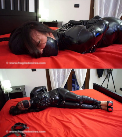 Tight bondage, domination and hogtie for sexy model