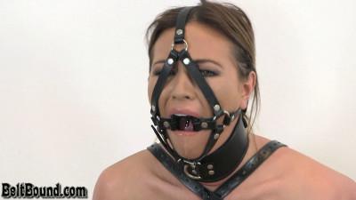 Belt bondage gags