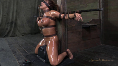 Ava Devine, sybian orgasmed out of her mind while brutally throat fucked!
