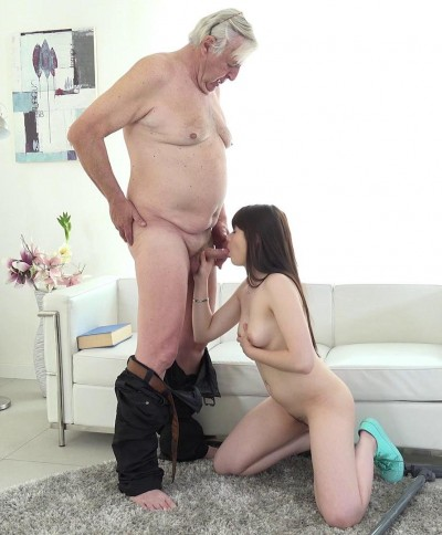 Luna Rival — Old man makes sweetie kneel FullHD 1080p