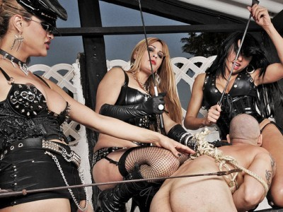 Trio of Kinky Dommes Show No Mercy
