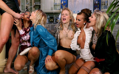 Description Frivolous Housewives: Mouthfuls Of Piss And A Sissy Dick To Fuck With