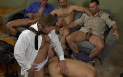 Description Anal party with seven men