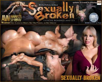 Huge Breasted Blonde Alyssa Lynn Restrained On A Sybian And Facefucked By BBC, Multiple Orgasms